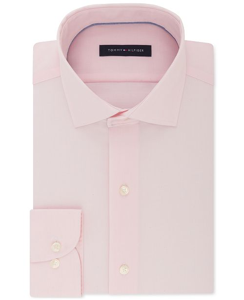 Tommy Hilfiger Men's Big & Tall Classic/Regular Fit Non-Iron Stretch Dress Shirt