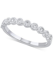 Diamond Bezel Band (1/4 ct. t.w.) in 14k White Gold