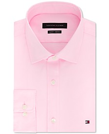 타미 힐피거 셔츠 Tommy Hilfiger Mens Slim-Fit Stretch Solid Dress Shirt, Online  Created for Macys