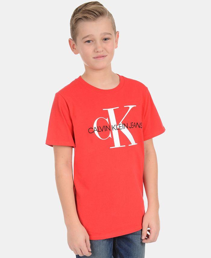 Calvin Klein - Big Boys Bold School Logo Graphic T-Shirt