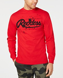 Young & Reckless Men's Splash Back Logo Long Sleeve T-Shirt