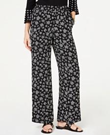 MICHAEL Michael Kors Floral-Print Wide-Leg Pants