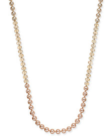 Charter Club Gold-Tone Bead and Imitation Pearl Strand Necklace, Created for Macy's