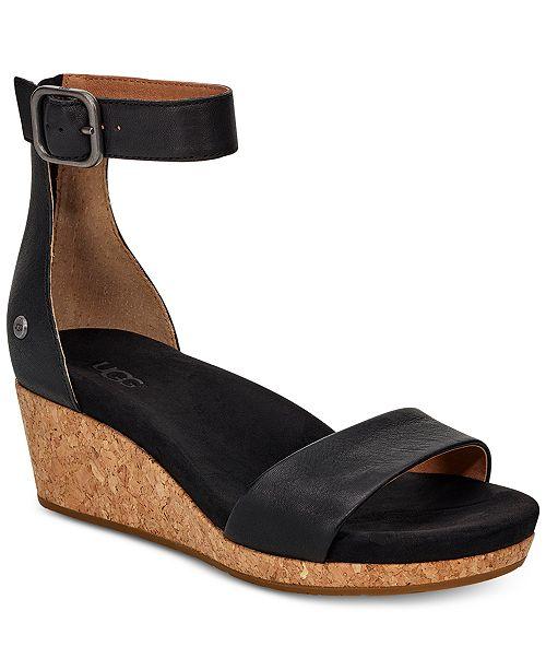 eb57c5312f UGG® Women's Zoe II Wedge Sandals & Reviews - Sandals & Flip Flops ...