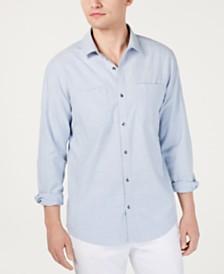 I.N.C. Men's Dual Pocket Chambray Shirt, Created for Macy's