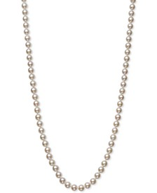 "Cultured Akoya Pearl (6-6-1/2mm) 20"" Strand Necklace in 14k Gold, Created for Macy's"