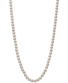 "Belle de Mer Cultured Akoya Pearl (6-6-1/2mm) 20"" Strand Necklace in 14k Gold, Created for Macy's"