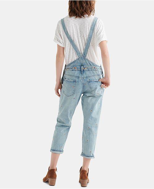 e82b6d76f2 Lucky Brand Boyfriend Denim Overalls - Shorts - Women - Macy s
