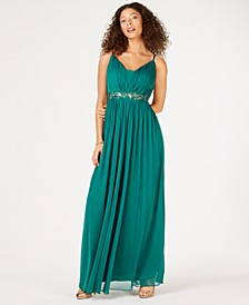 Juniors' Beaded Grecian Gown, Created for Macy's
