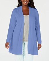 12935a2d2e7 Charter Club Plus Size Open-Front Cardigan