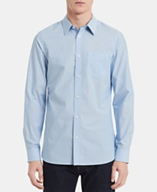 Calvin Klein Men's Slim-Fit Stretch Micro-Stripe Shirt