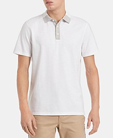 Men's Regular-Fit Contrast-Collar Polo Shirt