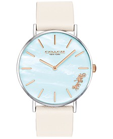 Women's Light Teal Mother Of Pearl Perry Watch, Created for Macy's