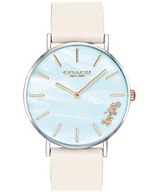 COACH Women's Light Teal Mother Of Pearl Perry Watch, Created for Macy's