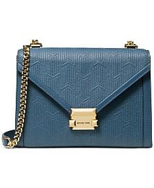 c5c5ab997133 MICHAEL Michael Kors Whitney Embossed Leather Shoulder Bag