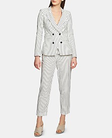 1.State Striped Blazer & Pants