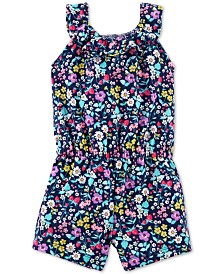 Carter's Baby Girls Floral-Print Cotton Romper