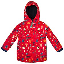 Toddler Boy All Over Print Raincoat