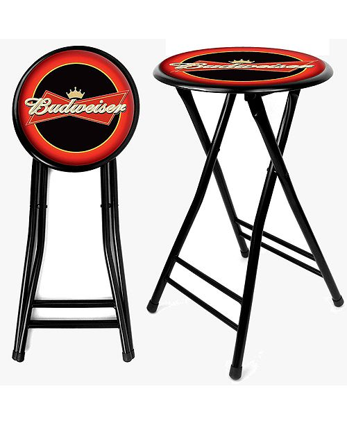 "Trademark Global Budweiser 24"" Cushioned Folding Stool"