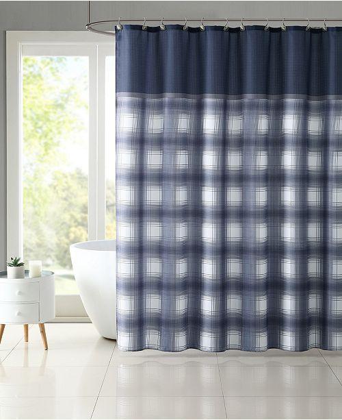 VCNY Home Bradley Plaid 13-Pc. Shower Curtain Set