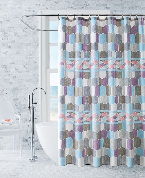 VCNY Home Lucy Printed 13-Pc. Shower Curtain Set