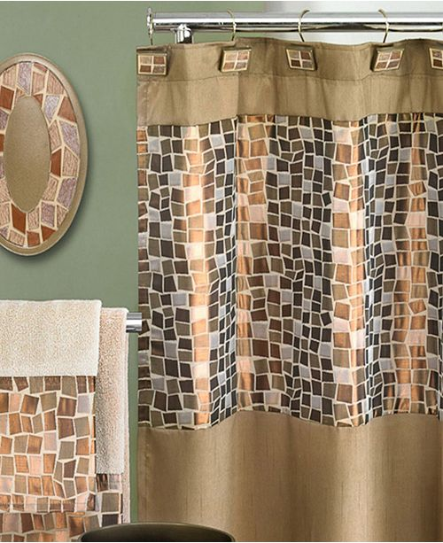 Popular Bath Mosaic Shower Curtain