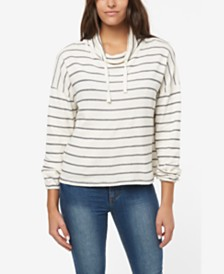 O'Neill Juniors' Cherie Cotton Striped Sweatshirt