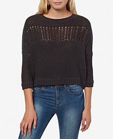 Juniors' Waverly Open-Knit Sweater