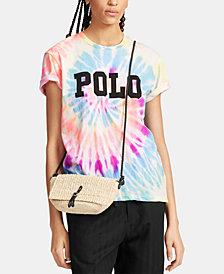 Polo Ralph Lauren Oversize Fit Tie-Dye Cotton T-Shirt