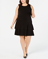143d1e23163 MICHAEL Michael Kors Plus Size Tiered-Hem Dress