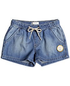 Roxy Little Girls Cotton Denim Beach Shorts