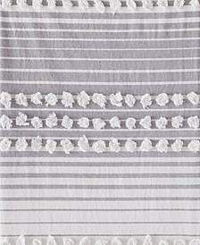 Ltd. Puffed Stripe Shower Curtain
