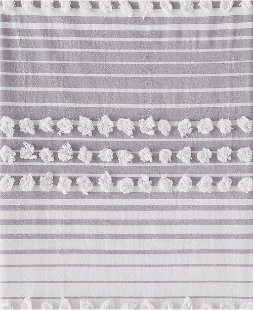 Saturday Knight Ltd. Puffed Stripe Shower Curtain