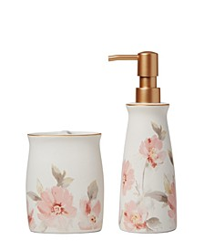 Ltd. Misty Floral Toothbrush Holder
