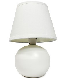 Simple Designs Mini Ceramic Globe Table Lamp
