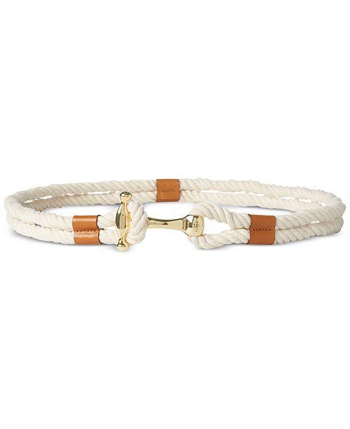 Lauren Ralph Lauren Nautical Rope Plus-Size Belt