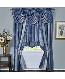 Ombre Window Curtain Tie Up Shade, 50x63