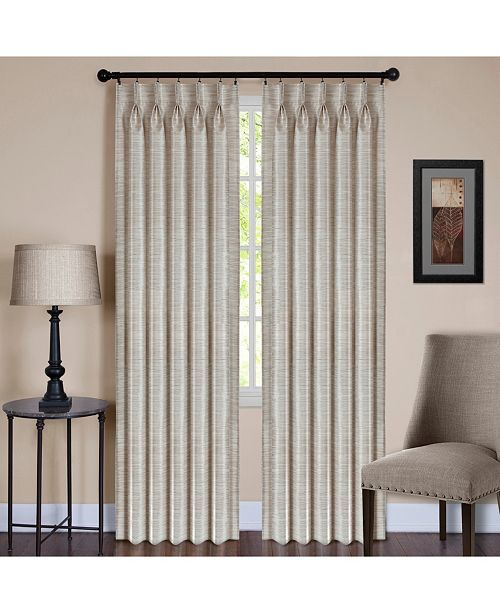 Achim Parker Pinch Pleat Window Curtain Panel, 34x63