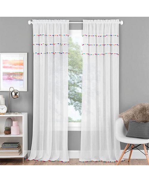 """Achim Pom Pom 52"""" x 84"""" Curtain Panel"""