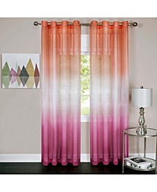 Rainbow Single Grommet Window Curtain Panel, 52x63