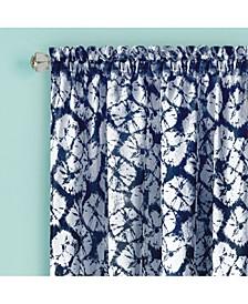 Batik Window Curtain Panel, 52x84