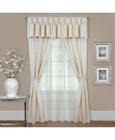 Claire 6 Pc Window Curtain Set, 55x84