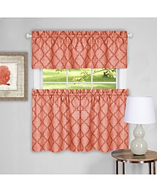 Colby Window Curtain Tier Pair and Valance Set, 58x36