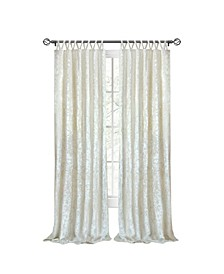 Harper Criss Cross Window Curtain Panel, 50x63
