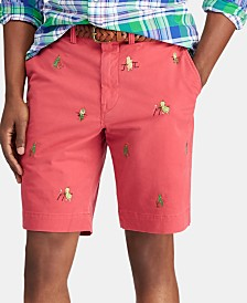 """Polo Ralph Lauren Men's 9.25"""" Stretch Classic-Fit Embroidered Shorts"""