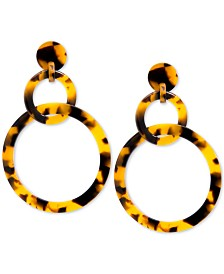 Zenzii Linked Circle Acetate Drop Earrings