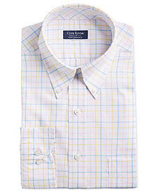 Club Room Men's Classic/Regular Fit Stretch Tattersall Dress Shirt, Created for Macy's