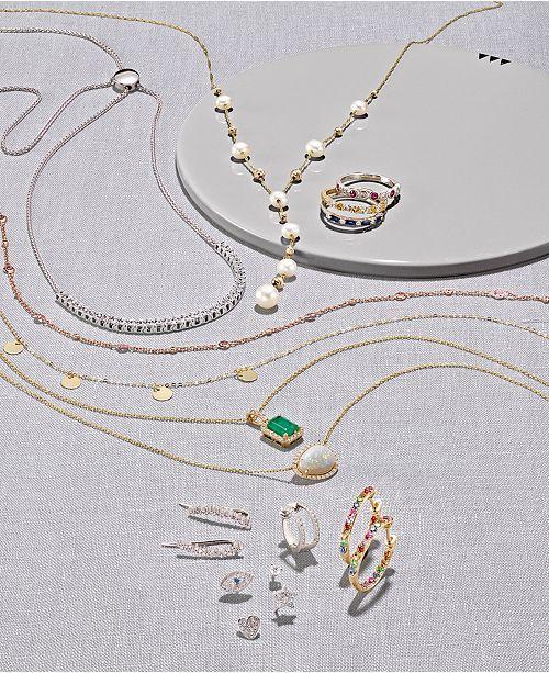 c8473909834d Macy s Diamond Single Stud Earring (1 10 ct. t.w.) in 14k White Gold ...