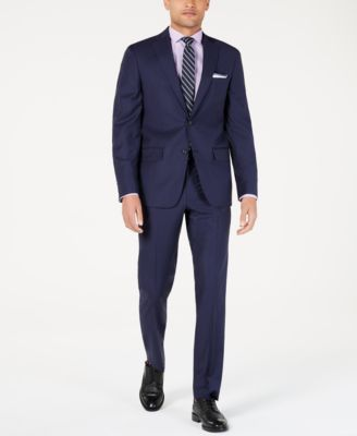 Men's Modern-Fit Indigo Plaid Suit Jacket