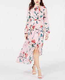 GUESS Kellyanne Floral-Print High-Low Dress